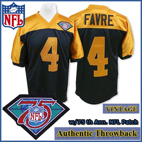 sports shoes e15df 4116e Green Bay Packers 1994 Authentic Throwback Black Gold Jersey ...
