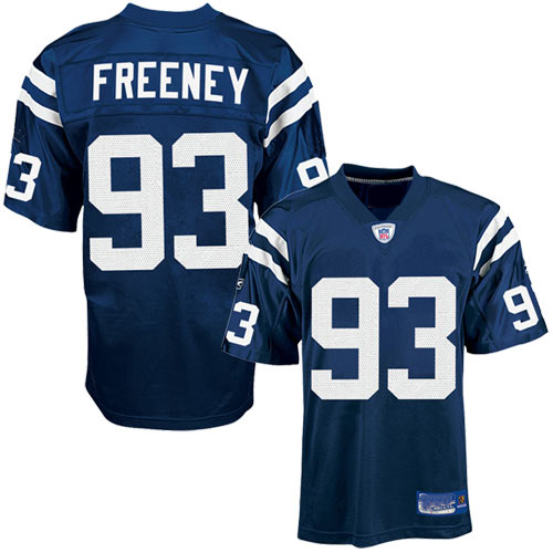 Indianapolis Colts NFL Royal Blue Football Jersey #93 Dwight Freeney