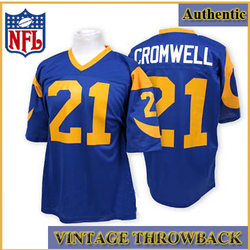 check out 107c8 767a8 Los Angeles Rams Authentic Style Throwback Blue Jersey #21 ...