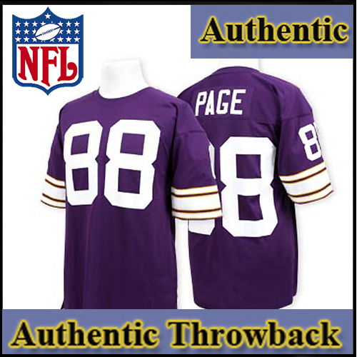 finest selection 28248 a295d Minnesota Vikings Authentic Style Throwback Purple Jersey ...