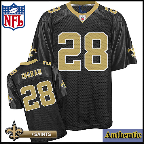 new styles 9a4ed b5386 New Orleans Saints NFL Authentic Black Football Jersey #28 ...