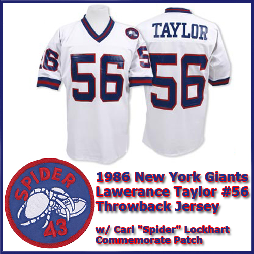 big sale 0758f 81771 New York Giants 1986 NFL White Jersey #56 Lawrence Taylor