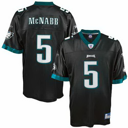 reputable site e61b1 8faae Philadelphia Eagles NFL Black Alt Football Jersey #5 Donovan ...