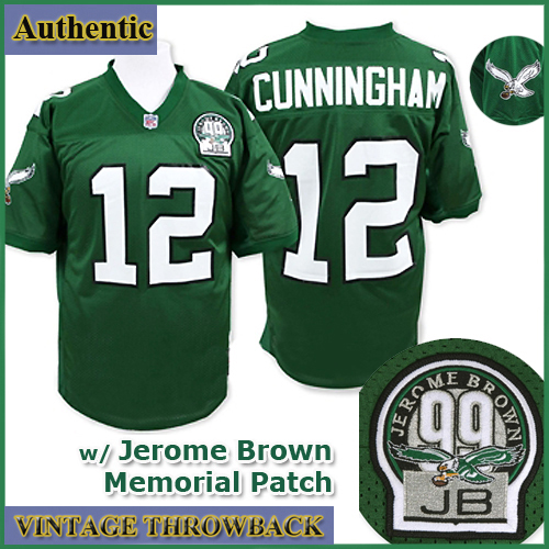 low priced 16f3f e73a1 Philadelphia Eagles Authentic Throwback Green Jersey #12 ...