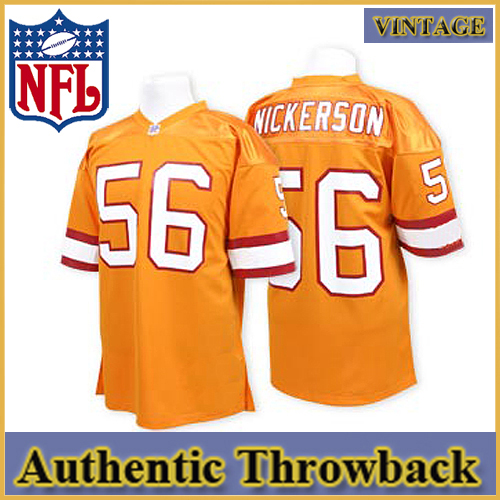 Tampa Bay Buccaneers Authentic Style Throwback Orange Jersey #56 ...