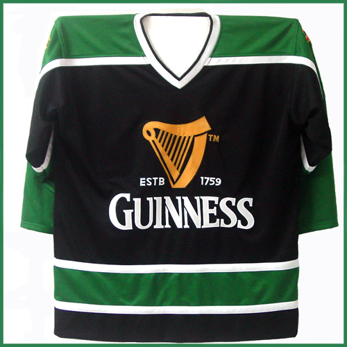 uk availability e6b82 37f11 Guinness Beer Authentic St. Patrick's Day Ice Hockey Jersey