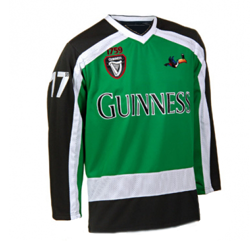 size 40 94d9f 3606c Guinness Beer Authentic 59 Green Hockey Jersey
