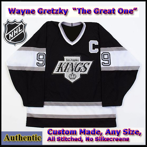half off 4be40 2be24 Wayne Gretzky #99 LA Kings Authentic Style Black Game Jersey