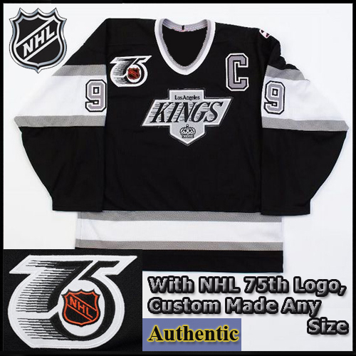 competitive price fd9b6 fe42e Wayne Gretzky 99 LA Kings Authentic Style Black Game 25th ...