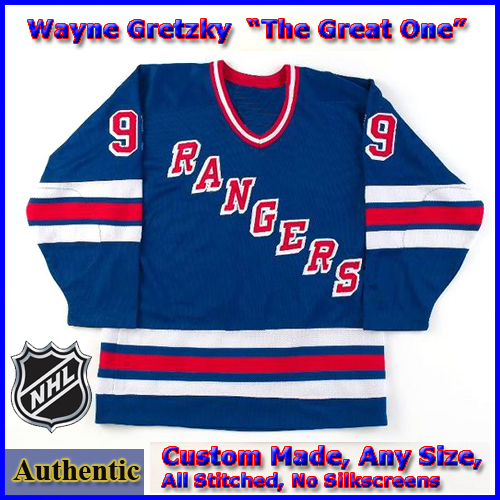 huge discount daf75 27b99 Wayne Gretzky 99 NY Rangers Authentic Style Blue Hockey Jersey