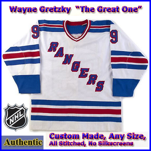 brand new 808a5 3e21e Wayne Gretzky 99 NY Rangers Authentic Style White Hockey Jersey