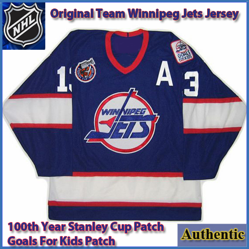 reputable site 6ac71 fa1b4 Winnipeg Jets Original Team CCM Authentic Style Home Blue ...